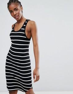 Платье мини ADPT Loop - Черный