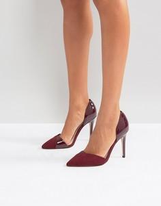 Остроносые туфли из двух частей на высоком каблуке Miss KG - Красный