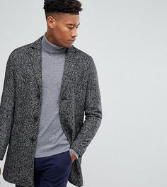 Фактурное пальто Stanley Adams TALL - Черный