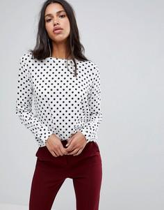Блузка в горошек Blend She Melly - Белый