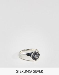 Серебряное кольцо с компасом ASOS - Мульти