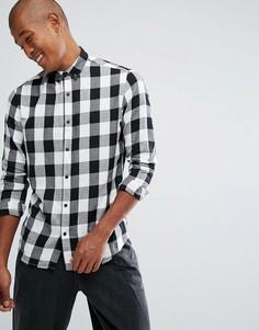 Рубашка в клетку на пуговицах Troy - Белый