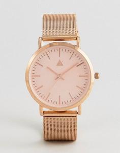 Золотистые часы с сетчатым ремешком ASOS - Медный