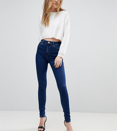 Темно-синие джинсы скинни с завышенной талией ASOS TALL RIDLEY - Синий