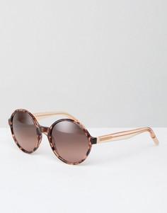 Солнцезащитные очки в круглой оправе Tommy Hilfiger - Золотой