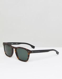 Квадратные солнцезащитные очки в черепаховой оправе BOSS By Hugo Boss 0926/S - Коричневый