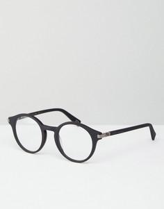 Круглые очки с прозрачными стеклами Marc Jacobs - Черный