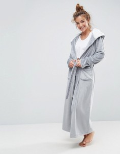 Мягкий флисовый халат с контрастной подкладкой ASOS - Мульти