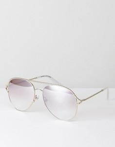 Серебристые солнцезащитные очки-авиаторы Marc Jacobs 168/S - Серебряный