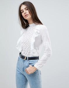 Блузка с оборками Glamorous - Белый