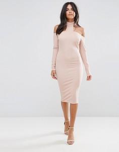 Розовое облегающее платье AX Paris - Розовый