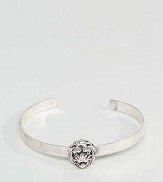 Серебристый браслет со львом ASOS PLUS - Серебряный