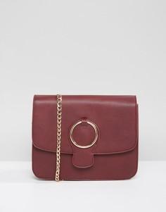 Сумка через плечо с декоративным кольцом Qupid - Красный