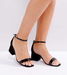 Босоножки на каблуке для широкой стопы ASOS HONEYDEW - Черный