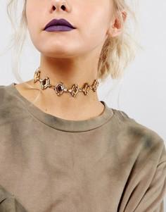 Ожерелье-чокер с камнями DesignB London - Золотой
