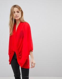 Блузка с перекрестным дизайном QED London - Красный