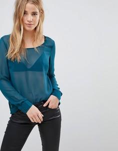 Полупрозрачная блузка QED London - Зеленый