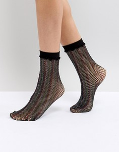 Блестящие сетчатые носки Leg Avenue - Мульти