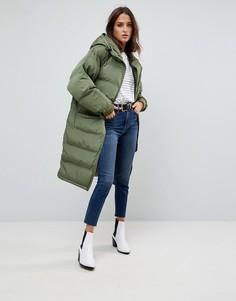 Удлиненное стеганое пальто с рукавами реглан Free People - Зеленый