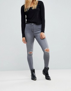 Джинсы с рваными коленями Parisian - Серый