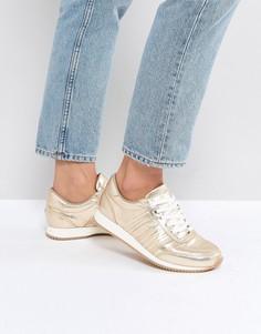 Кроссовки металлик на шнуровке Tommy Jeans - Золотой