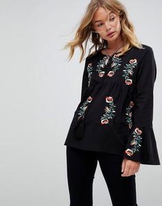 Свободная блузка с вышивкой Rd & Koko - Черный