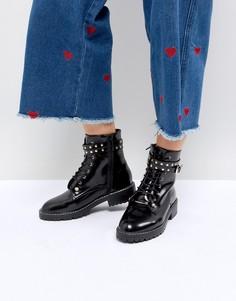 Байкерские ботинки с заклепками Pimkie - Черный