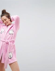 Супермягкий халат с овцой ASOS - Розовый