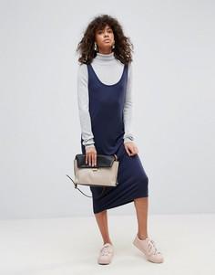 Платье-майка миди Pieces Billo - Темно-синий