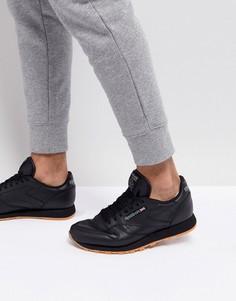 Классические кожаные кроссовки Reebok 49800 - Черный