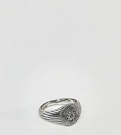 Кольцо на мизинец с печаткой Reclaimed Vintage Inspired эксклюзивно для ASOS - Серебряный