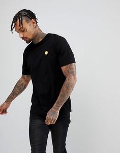 Черная футболка с логотипом Wood Wood - Черный