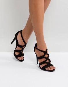 Босоножки на высоком каблуке с ремешками New Look - Черный
