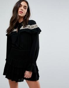 Платье с вышивкой Tularosa - Черный