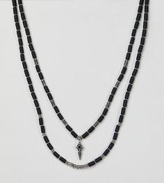 Ожерелье Reclaimed Vintage Inspired эксклюзивно для ASOS - Серебряный