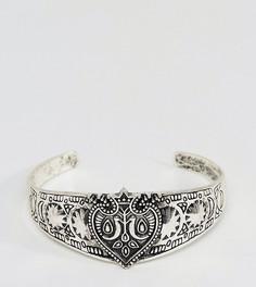 Серебристый браслет с гравировкой Reclaimed Vintage Inspired эксклюзивно для ASOS - Серебряный