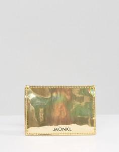 Визитница цвета металлик Monki - Золотой