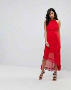 Асимметричное платье макси The Jetset Diaries - Красный