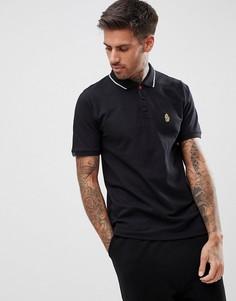 Черная футболка-поло с короткими рукавами Luke Sport Mead - Черный