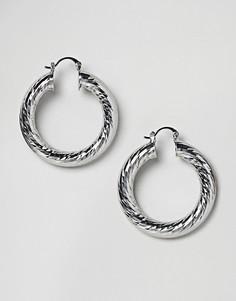 Серьги-кольца ASOS - Серебряный