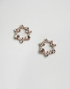 Серьги ограниченной серии с камнями - Розовый Asos