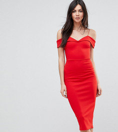 Платье-футляр миди с открытыми плечами ASOS TALL - Мульти