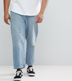 Голубые джинсы в винтажном стиле ASOS PLUS - Синий