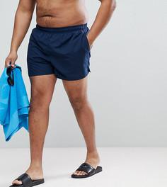 Темно-синие короткие шорты для плавания Nike Plus Volley NESS8830-489 - Темно-синий