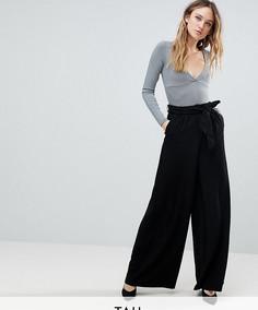 Широкие брюки с завышенной талией Y.A.S Tall - Черный