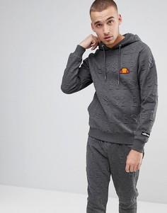Худи серого цвета с логотипом Ellesse - Серый