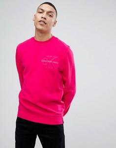 Свитшот с вышитым логотипом Calvin Klein Jeans - Розовый