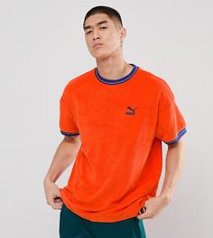 Красная махровая футболка Puma эксклюзивно для ASOS - Красный
