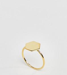 Кольцо из позолоченного серебра ASOS - Золотой