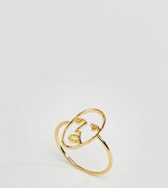Серебряное позолоченное кольцо ASOS - Золотой